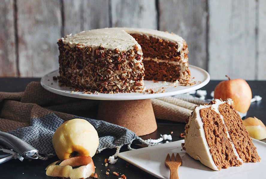 Vegan Thanksgiving Desserts - Apple Spice Cake
