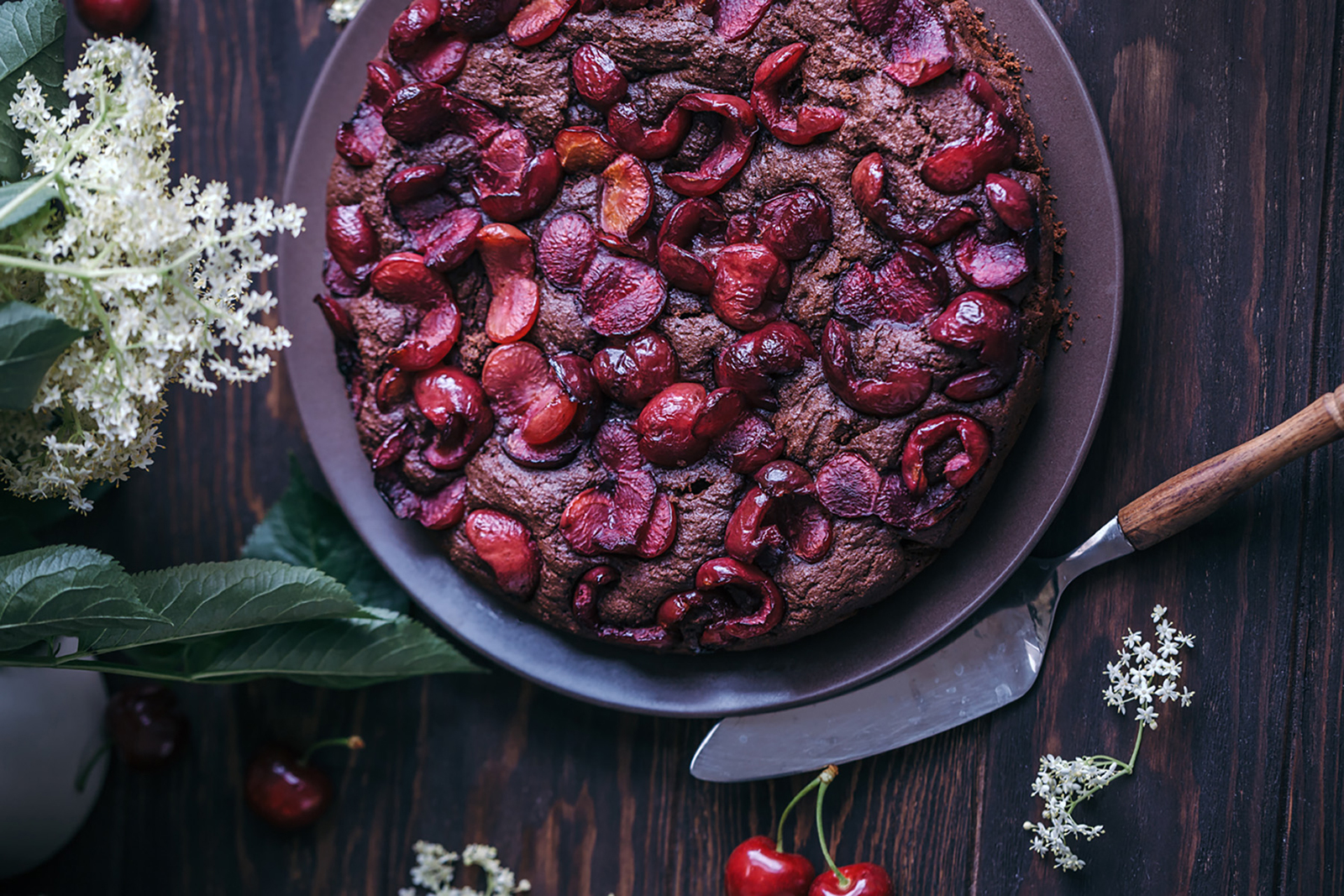 Vegan Thanksgiving Ideas - Vegan Cherry Chocolate Cake