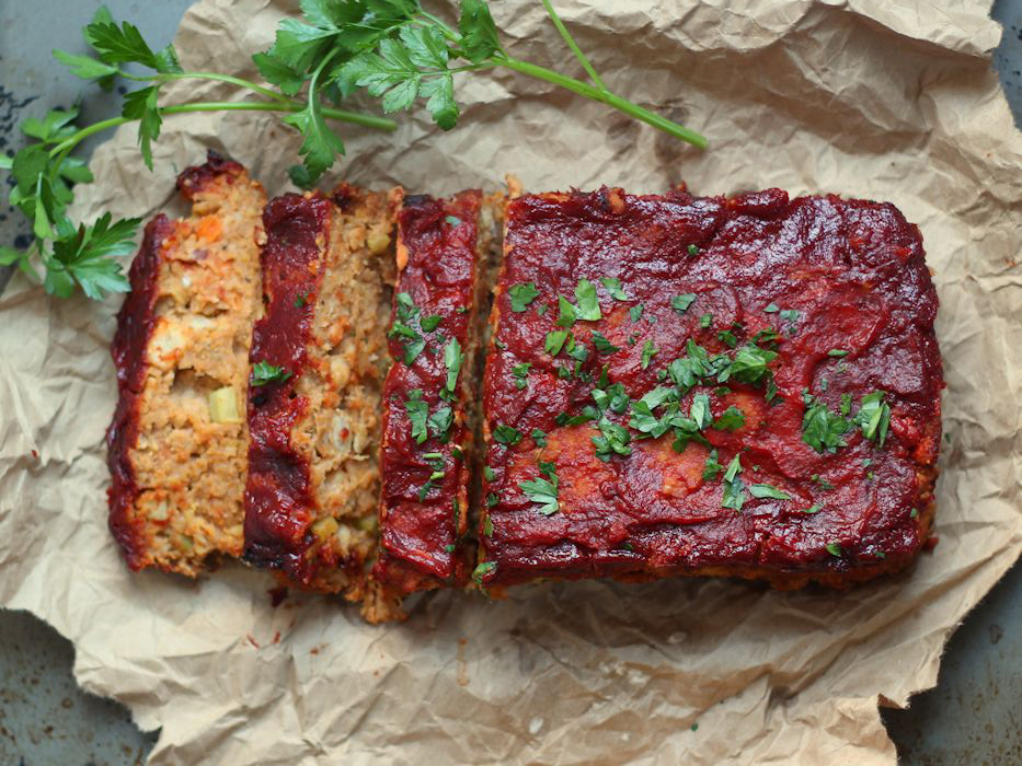 Vegan meatloaf for Thanksgiving