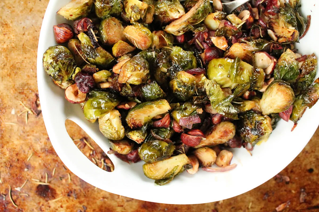 Vegan Thanksgiving Recipes - Maple Brussel Sprouts