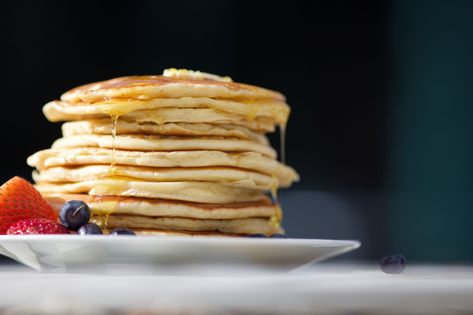 Banana Pancakes with Blueberries & Maple Syrup | Breakfast Is Served: 6 Quick & Easy Vegan Breakfast Recipes